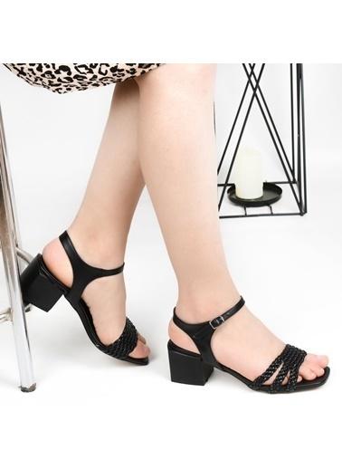 Pandora Mı016 Bayan Topuklu Sandalet Siyah